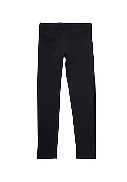 F&F Fleece Lined Leggings with As New Technology - Black