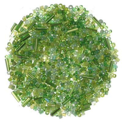 Shades of Green Glass Beads