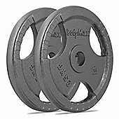 Bodymax Olympic Cast Iron Weight Plates - 2 x 25kg