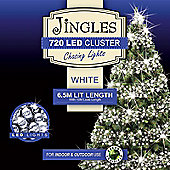 Jingles 720 Multi-Function 6.5m Cluster Lights - Bright White