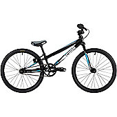 "Cuda Fluxus Micro Mini Race Kids 18"" Wheel Alloy BMX Bike Black/Cyan"