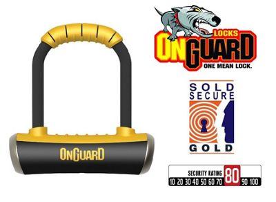 Onguard 8006 Pitbull Mini Shackle U-Lock Bike Sold Secure