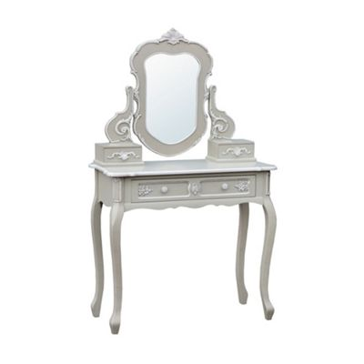 Grey Console Table with Mirror