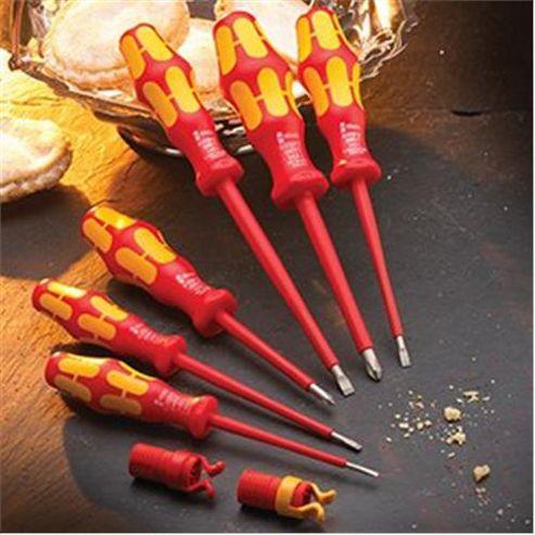 XMS Wera VDE Soft Grip Screwdriver Set 6 Pieve + 2 Free Screw Grippers