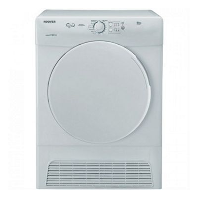 HOOVER VTC580NB 8kg Condenser Dryer - white B Energy Rating