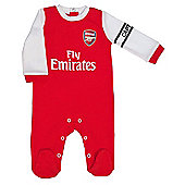 Arsenal Baby Core Kit Sleepsuit - 2016/17 Season - Red & White