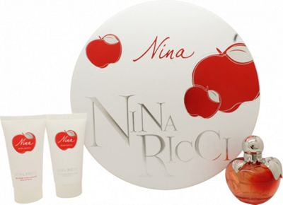 Nina Ricci Nina Gift Set 50ml EDT + 50ml Body Lotion + 50ml Shower Gel For Women