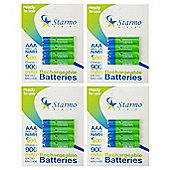 16 x Starmo AAA MN2400 900mAh HR03/1.2V Rechargeable Batteries