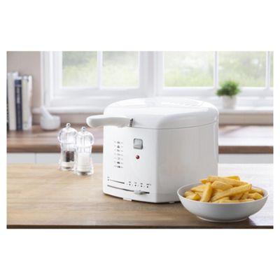 Tesco   L Deep Fat Fryer   White Tesco