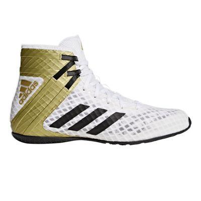 adidas Speedtex 16.1 Mens Boxing Trainer Shoe Boot White/Gold - UK 9.5