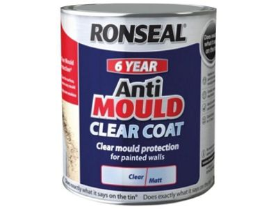 Ronseal AMCM25L 2.5 Litre 6 Year Anti-Mould Coat Matt Paint - clear