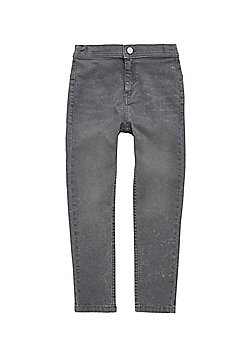 F&F High Rise Tube Pant Jeans - Grey