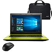 "Lenovo Ideapad 305 - 80NJ00R3UK - 15.6"" Laptop Intel Pentium 3825U 8GB RAM 1TB HDD Win 10 with Wireless Mouse and Case"