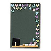 Booth Design A4 Chalkboard Pastel Hearts