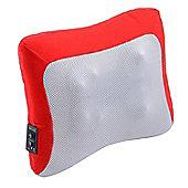 Homcom Electric Heating Massage Neck Head Back Arm Muscles Relax Pillow Shiatsu Massager (Red)