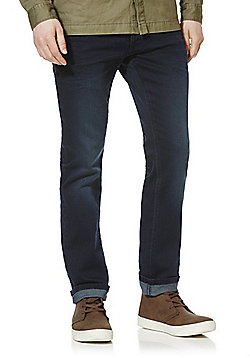 F&F Knitted Look Stretch Slim Leg Jeans - Indigo