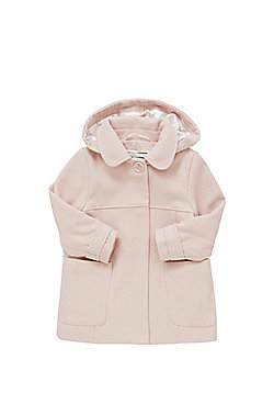 Minoti Hooded Swing Coat - Blush pink