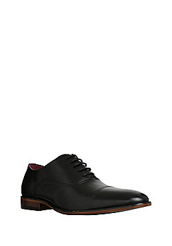 F&F Toe Cap Oxford Shoes - Black