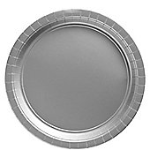 Silver - 23cm Paper Party Plates - 20 Pack