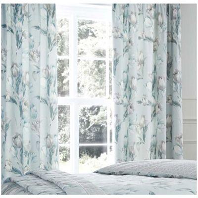 Dreams n Drapes Tulip Duck Egg Pencil Pleat Curtains - 66x72 Inches (168x183cm)