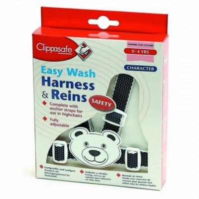 Clippasafe Teddy Character Harness & Rein - Navy/White