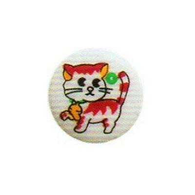 Hemline Cat Patterned Buttons 12.5mm 5pk