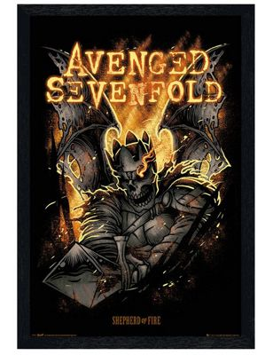 Avenged Sevenfold Black Wooden Framed Shepherd of Fire A7X Poster