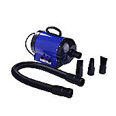 Pawhut Dog Pet Grooming Hairdryer Heater Blaster 2800W Blue