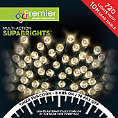 Premier 720 Multi Action Supabrights LED Lights with Timer - Warm White