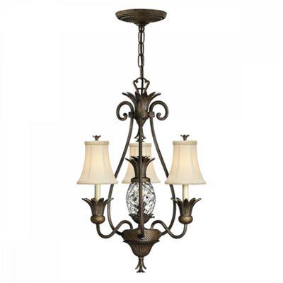 Pearl Bronze 3lt Chandelier - 4 x 60W E14