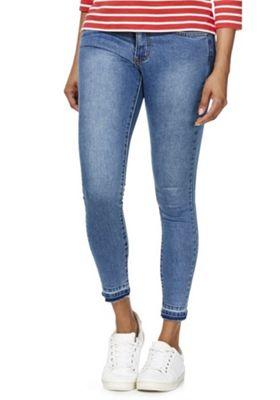 Vila Commit Let-Down Hem Ankle Grazer Jeans XL Mid wash