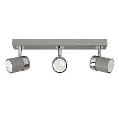MiniSun Rosie 3 Way LED Ceiling Spotlight - Cement - Cool White