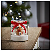 Tesco Christmas Gingerbread House Candle in Jar