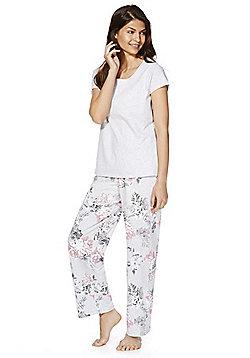 e7735577b1 F F Floral Jersey Pyjamas - Grey
