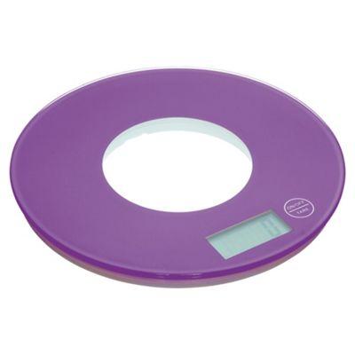 KitchenCraft colourworks 5KG Electric Kitchen Scale, Purple