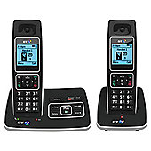 BT 6500 Twin Cordless With Answer Machine Telephone , Black