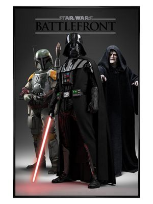 Star Wars Gloss Black Framed Battlefront Dark Side Poster 61x91.5cm