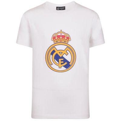 Real Madrid Mens Crest T-Shirt White 3XL