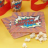 """Pop Art Superhero """"Happy Birthday"""" Napkins - 2ply Paper - 20 Pack"""