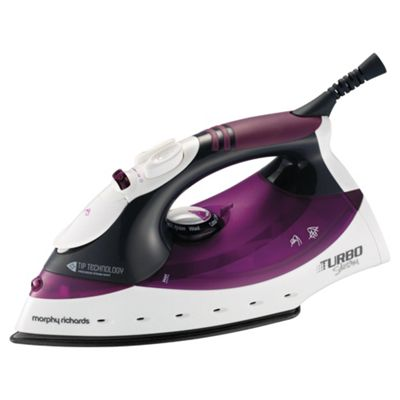 Morphy Richards 40699 Turbo Steam Generator with Aluminium Plate - White/Purple