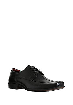 F&F Leather Tramline Stitch Shoes - Black