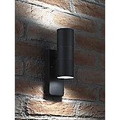 Auraglow Dusk Till Dawn Sensor Black Up & Down Outdoor Wall Security Light - Cool White