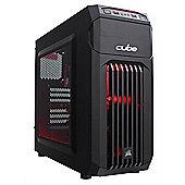 Cube Ryzen 5 1400 Esport/Streamer Gaming PC 8GB 1TB RX 550 2GB WIFI Win 10