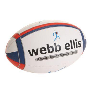 Webb Ellis Premier Rugby Trainer Navy/Red size 5