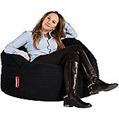 Lounge Pug® 2 in 1 Extra Large Bean Bag Chair & Pouffe - Cord Black