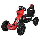 Pedal Go Kart with Fender Red Off Road Go Kart for Kids