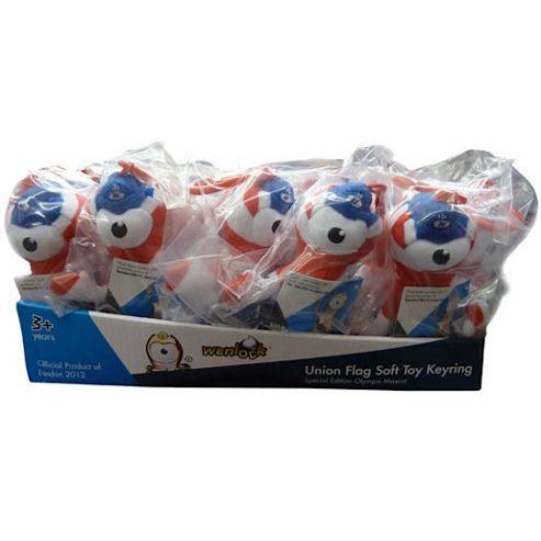 London 2012 24 Union Jack Wenlock Soft Toy Key Rings Value Pack