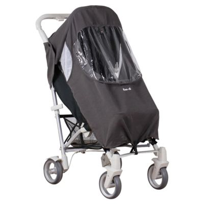 Koo-di Stroller Rain Cover Charcoal Grey