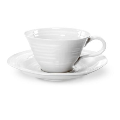 Portmeirion Sophie Conran White Teacup and Saucer 0.30L