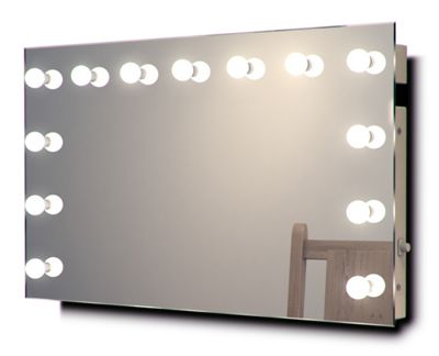 Diamond X Wallmount Hollywood Makeup Mirror with Warm White Dimmable LED k91WW